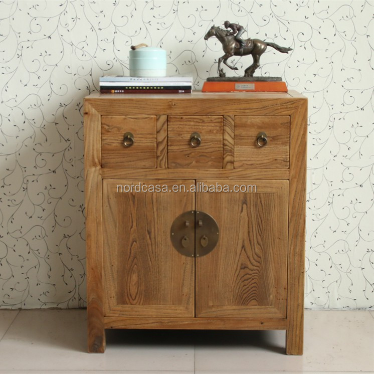 Elegant Chinese Antique Vintage Recycled Elm Wood Furniture