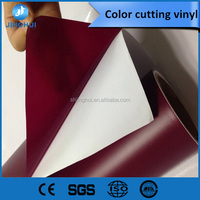 Rolls of Assorted Glossy Colors of Permanent Adhesive-Backed Vinyl for Craft Cutters