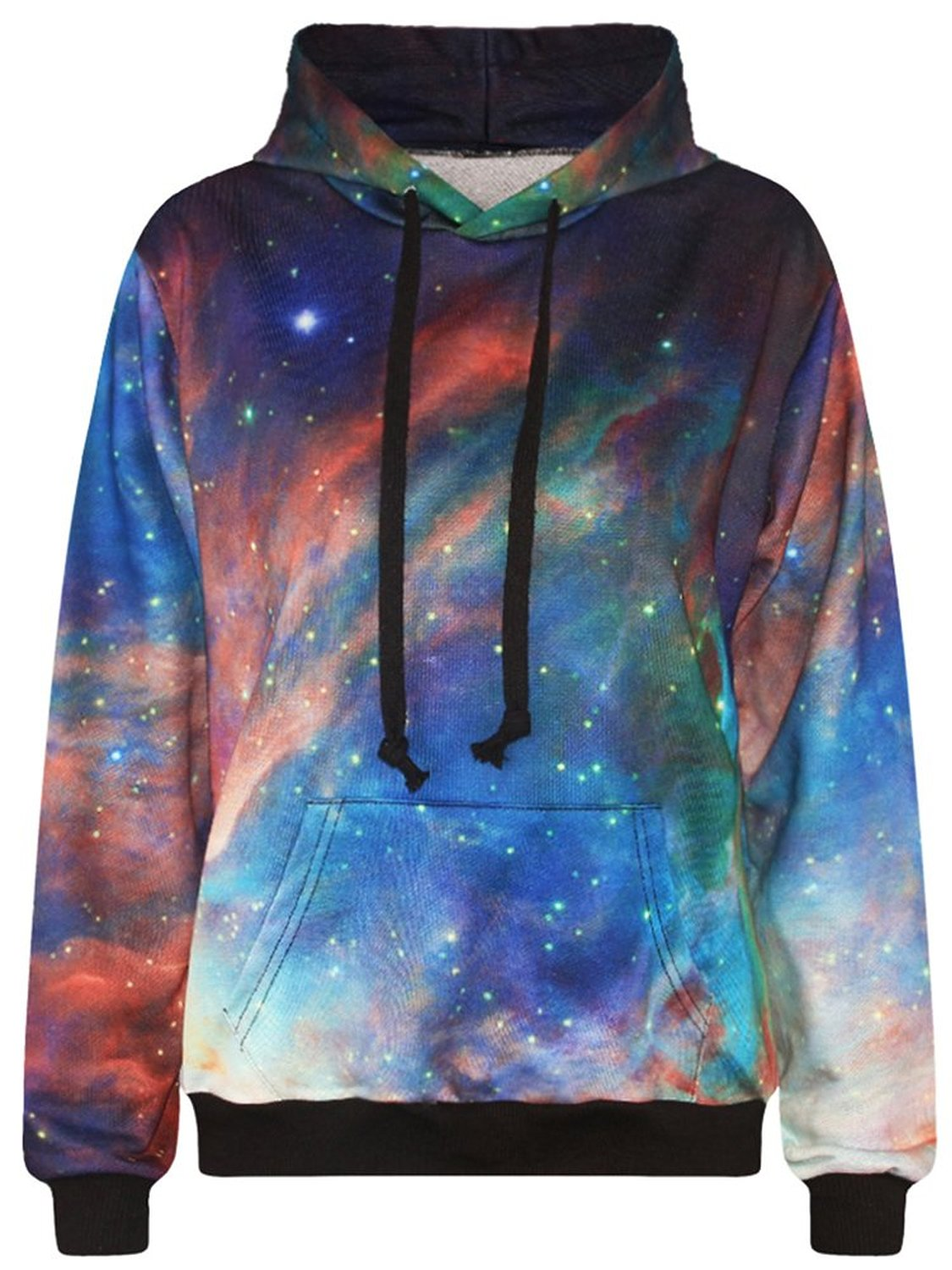 Imilan Neon Galaxy Sweatshirt Hoodies Printed Jacket
