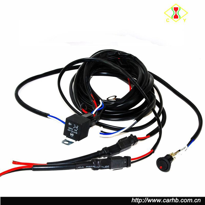 16 Awg Double Dt Plug Wiring Harness Kit With Dc 12v 40a Relay 20a