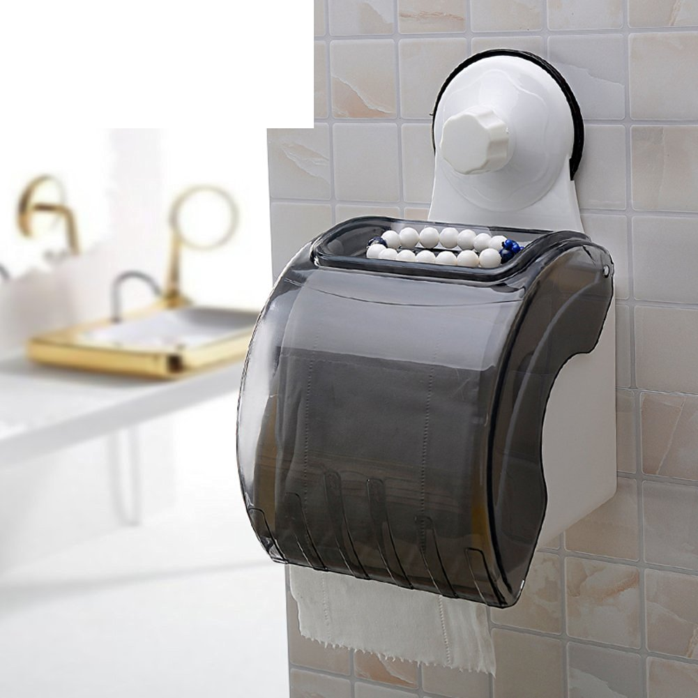 Creative suction cup waterproof bathroom tissue box/ toilet tissue holder/Toilet tray/Tray/ volume box/ toilet roll holder-C