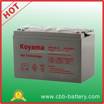 assurance solar power gel battery 100ah 12v npg100 12. Black Bedroom Furniture Sets. Home Design Ideas