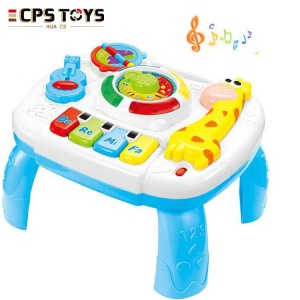 Giraffe early learning table toys baby music and light educational activity toys for kids