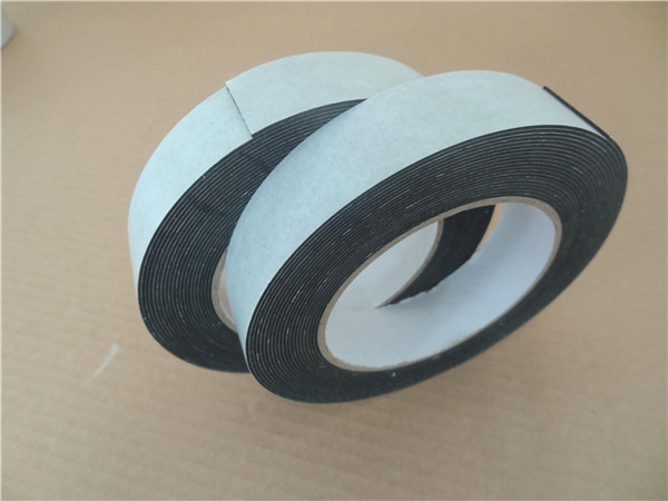 1mm thick black die cut rubber adhesive backed foam tape