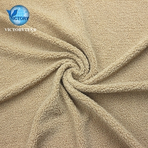 Types Of Jacket Fabric Material Teddy Bear Fur Fleece Fabric for Winter Cloths