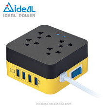 5VDC USB power strip /surge protector 6A with 4 extension outlet