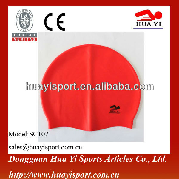 High quality custom professional fashionable silicone swim caps ear protective