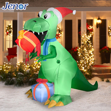 Christmas Inflatable Rex with Present Infltable Christmas Ornaments