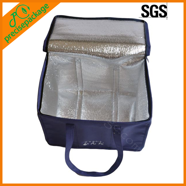 Outdoor non woven insulated aluminum foil cheap cool can bag