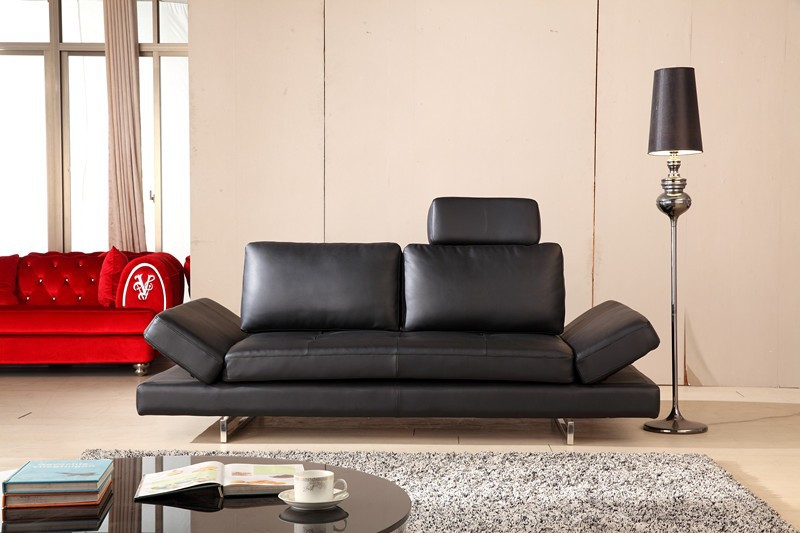 2015 NEW Design high quality leather sofa with movable armrest