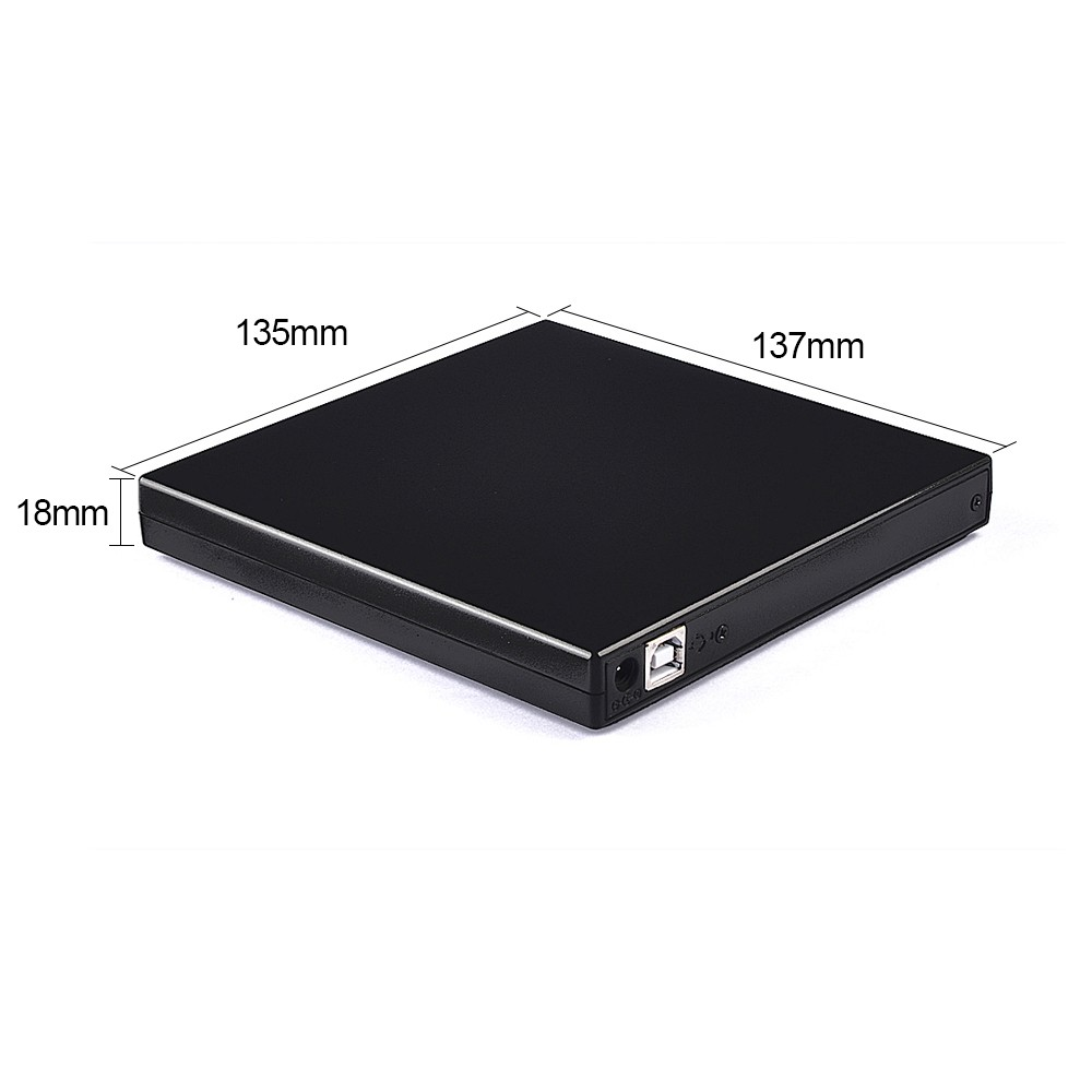 external laptop dvd rw drive slim enclosure case 12.7mm