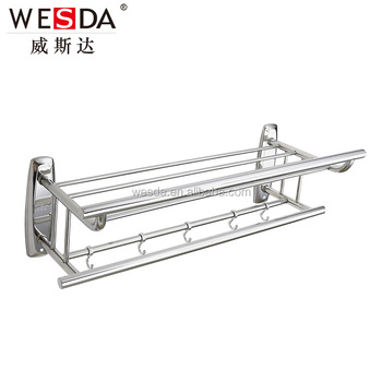 WESDA Stainless Steel Bathroom Hang Towel Rack Hanging Shower Rack