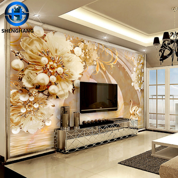 Gold Supplier Custom Design 3d Silk 3d Name Wallpaper For Home
