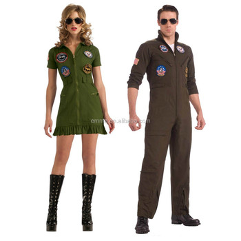 d9a6c70c8e42 New arrival top gun jumpsuit costume for women dress up with good quality  BWG-2042