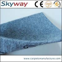 Small MOQ lower price polyester popular velour carpet for car