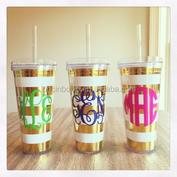 China Factory Wholesale Personalized Gold Foil Tumbler Acrylic ...