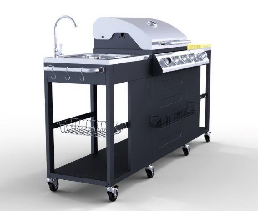 4 1 bruciatori in acciaio inox grande cucina esterna barbecue grill a gas immagine griglia del. Black Bedroom Furniture Sets. Home Design Ideas