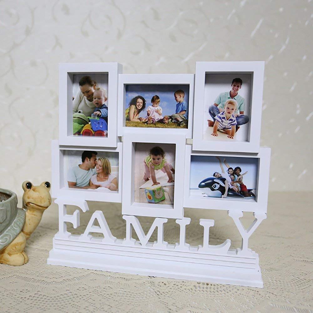XiYunHan Photo frame Siamese combination of set design family photography creative 3-inch frame European style table wallet (Style : 6 box)