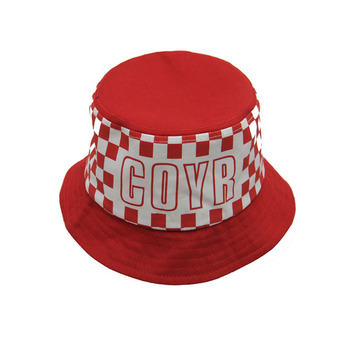 Popular Design Red White Sun Boonie Hats Custom Funny Bucket Hat 7dfb706eb4ae