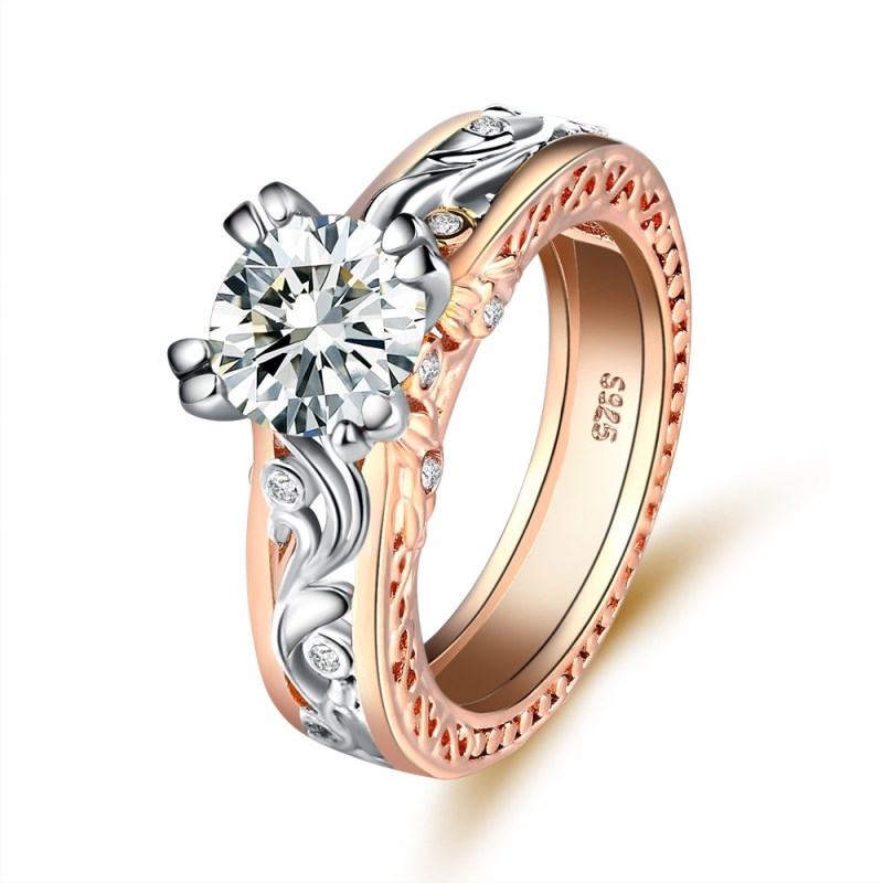 Wedding Bands Jewelry & Accessories Obliging Hainon Wedding Crystal Silver Color Rings Flower Design Engagement Pink Purple Cubic Zircon Ring Fashion For Women Jewelry Gifts