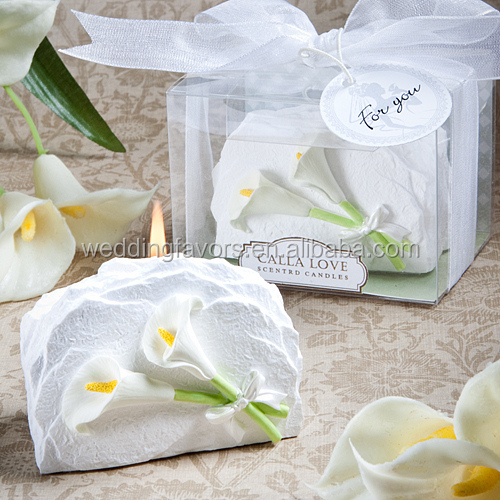 Unique Calla Lily Favor Candle