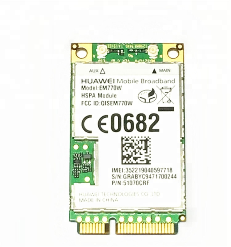 EM770W HUAWEI 3g BORDO WCDMA Wireless Mini pci express modulo gps