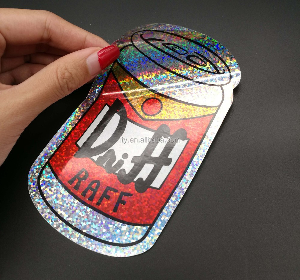 Custom holographic sticker sparkle label glitter vinyl sticker buy holographic stickersparkle labelglitter vinyl sticker product on alibaba com