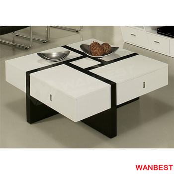 Modern Square Artificial Stone Living Room Center Coffee Tea Table