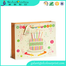 China Manufacturer Custom Printing Birthday Coated Paper Gift Bag With Hand Length Handle