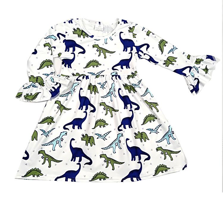d5ffc2379 2019 Hot sale roupa dos miúdos Por Atacado boutique de roupas Chilrden Dinossauros  impressão longsleeve Crianças