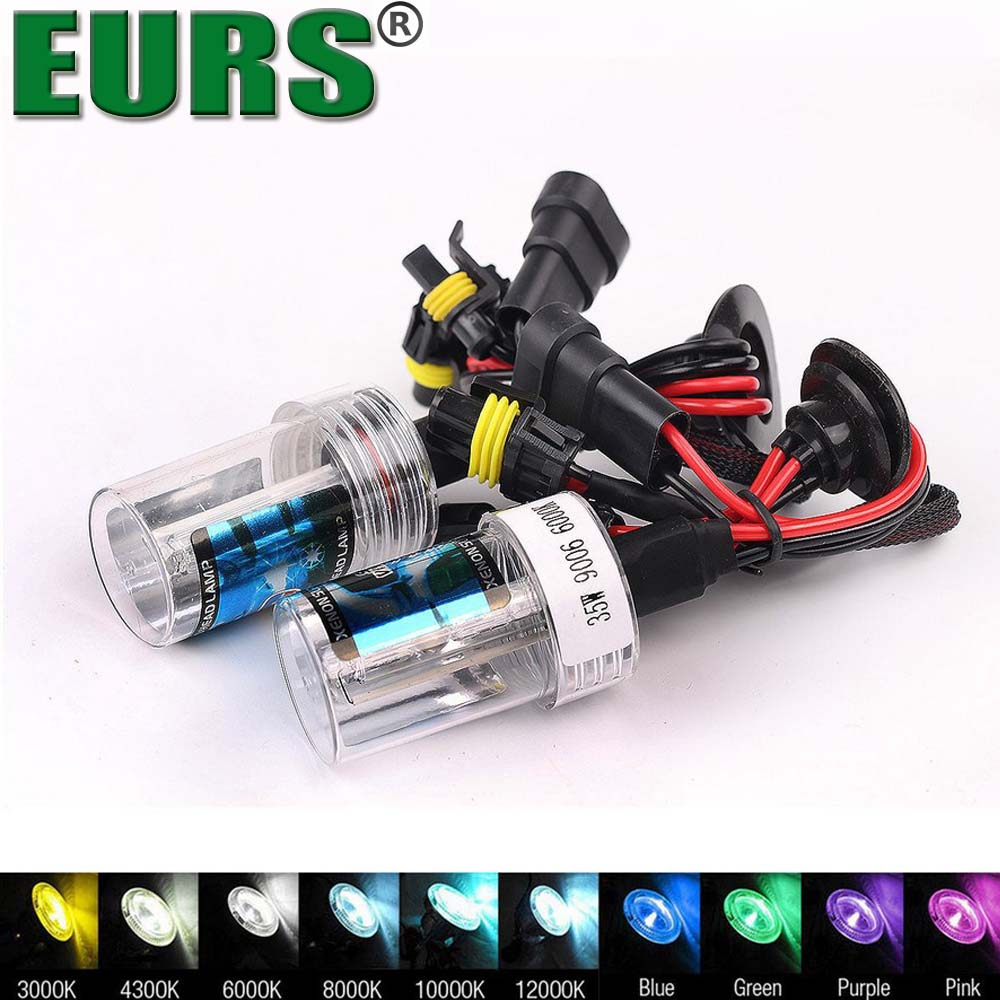 EURS hid xenon kit headlight ballast 9006 HB4 6000K 35W 12V car hid lights