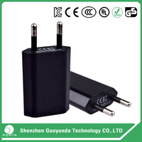 5V 2A mobile phone ac power adapter with EU US plug