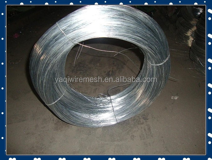 Galvanized Steel Iron Wire Packaged by Plastic Bags outside with woven bags