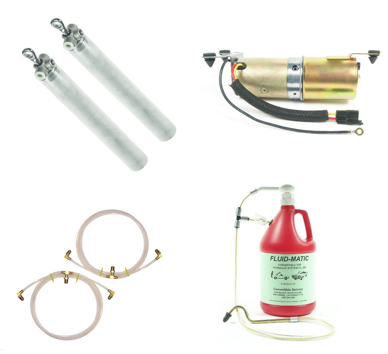 Convertible Top Hydraulic System Cylinders Hoses & Motor. FITS ALL 65-70 GM Full Size Chevrolet Pontiac Olds Buick Cadillac 1965 1966 1967 1968 1969 1970