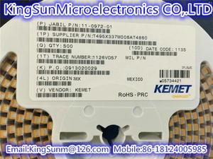 T491D107K016AT KEMET CAP TANT 100UF 10/% 16V 2917 ROHS 35 PIECES