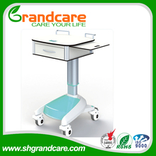 Adjustable Medical Computer/Laptop Equipment Trolley Cart wooden service trolley/guest room service (G-TD002)