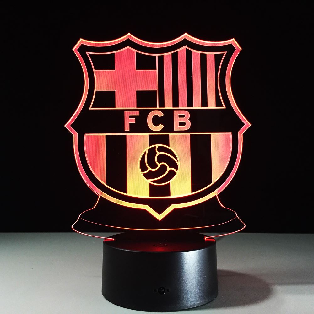 STL FCB Football Club LED Neon Lamp USB Novelty 3D Night Lights LED Touch Lamp 3D night light for kids