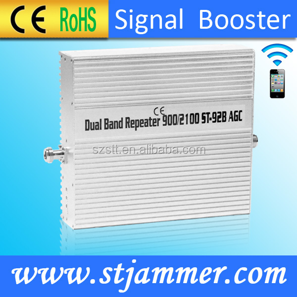 2G 3G Dual band cell phone signal booster,900 2100mhz signal booster , Dual band signal repeater