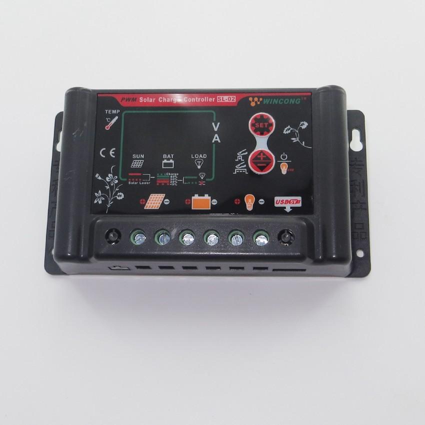 Sl02b 10a 10a 12v 24v Solar Charge Controller Li Ion