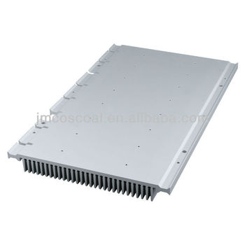 6063 Aluminum Alloy Heatsink with anodizing and brushing