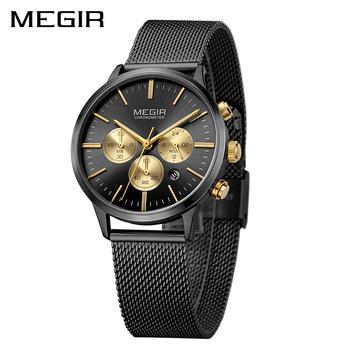 2a72a0e1cea Megir Chronograph Gold Watch 2011L Women Watches Ladies Brand Luxury Quartz  Watch Female Clock Relogio Feminino