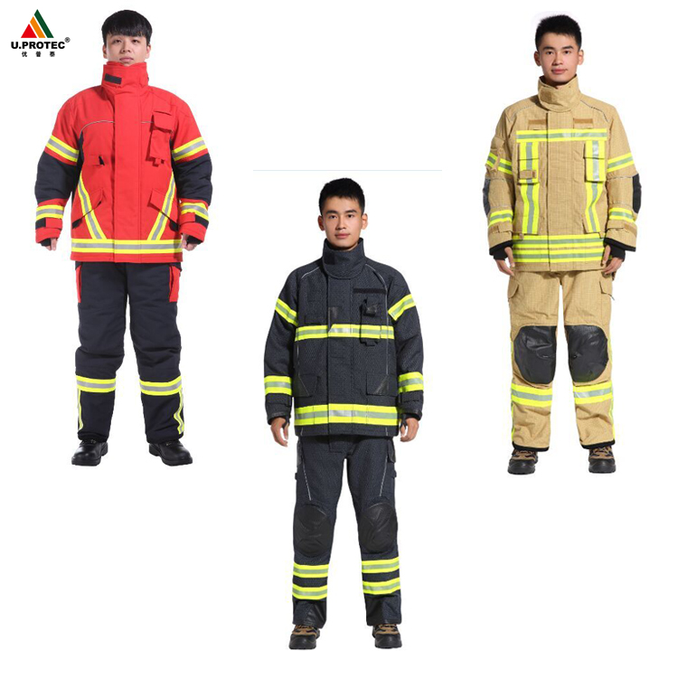 EN 469 Nomex Firefighting Suit/Firefighter uniform For Fireman