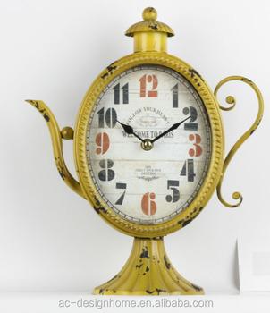 Antik Kuning Teko Bentuk Atas Meja Logam Dekoratif Jam - Buy Logam ... 744e75a249
