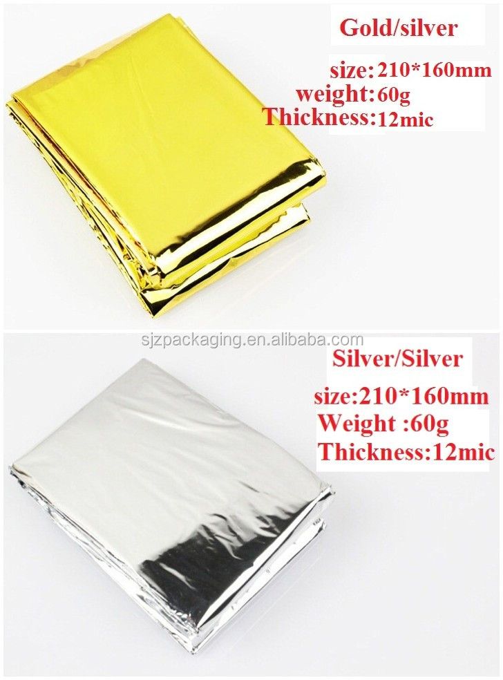 250 De Secours Espace Thermal Mylar Blankets 84x52