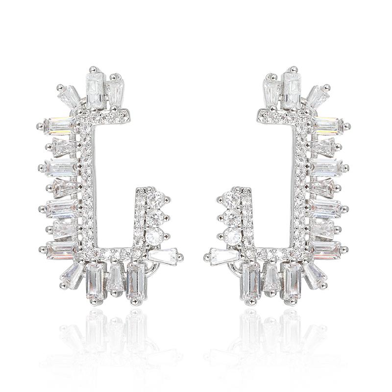 f2930590dad7 Vista de Arabia Saudita diseño de plata pendientes de la joyería de la  mujer pendiente de