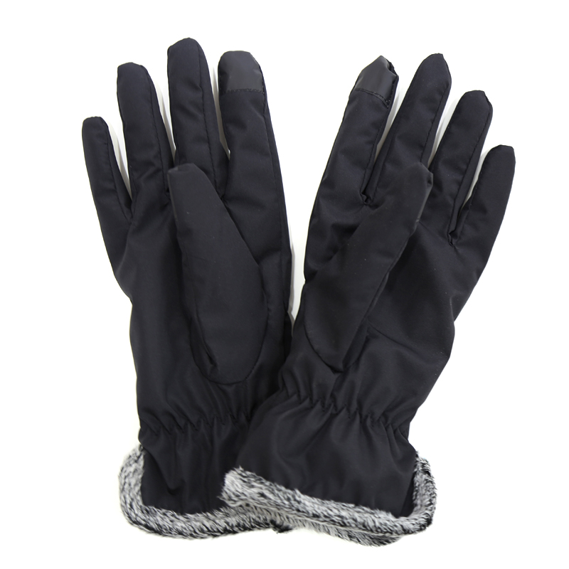 Classical black winter warm touch screen gloves for women