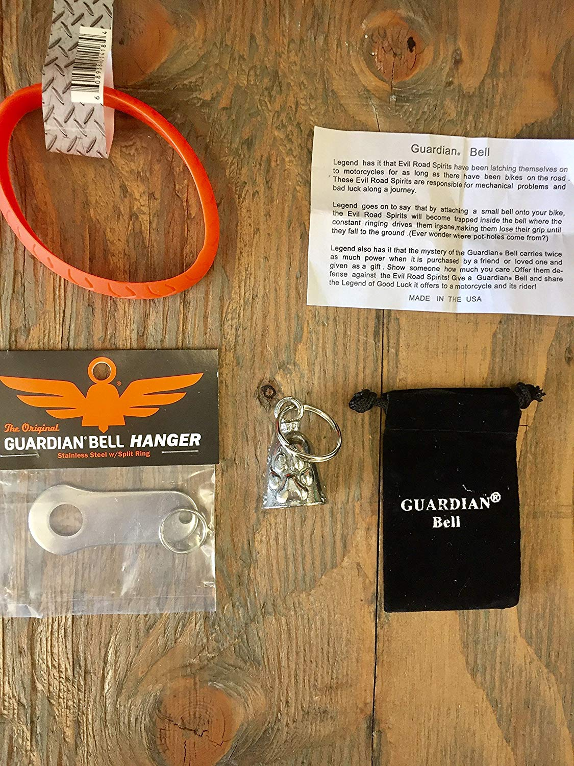 Guardian® Bell Dog PAW Complete Motorcycle KIT W/Hanger & Wristband