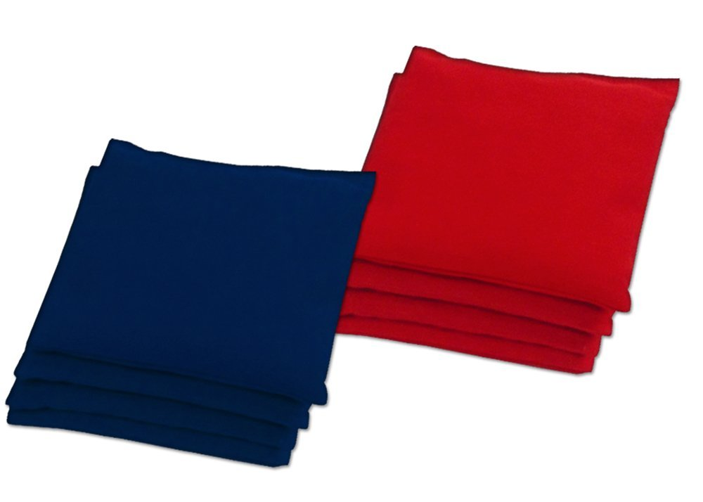 Classic Red / Navy Cornhole Bean Bag Toss Bags Regulation Duck Cloth Canvas by Baggo (set of 8)