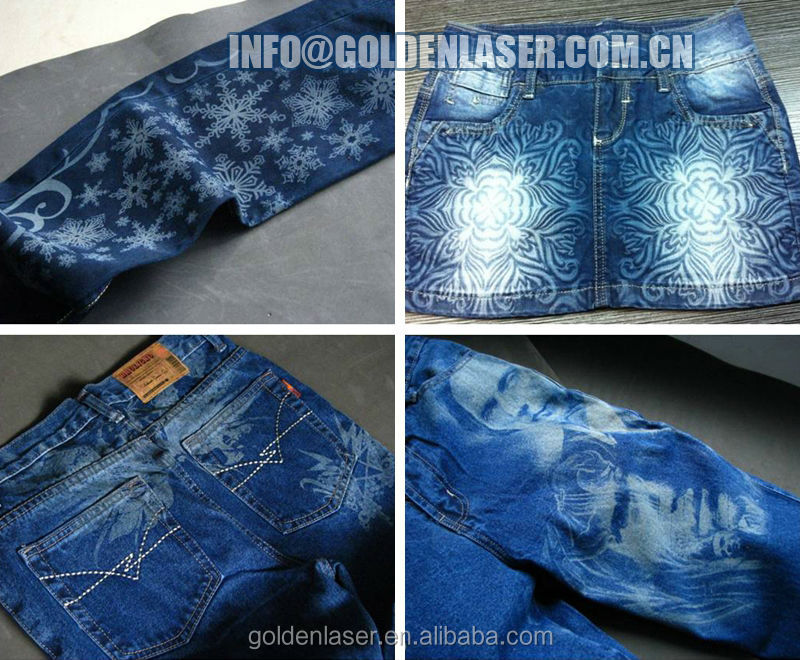 Jeans Laser Engraving Machine For Denim Washing Laundries
