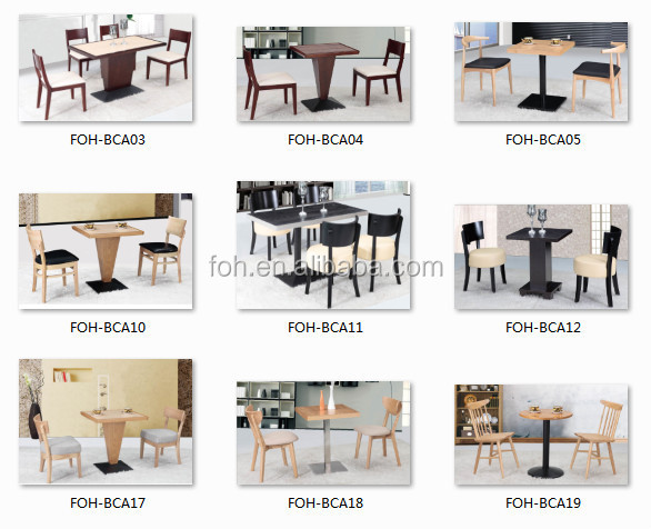 Exceptional Restaurant Furniture Wooden Tables And Chairs Mexico Furniture Manufacturer  (FOH BCA01)